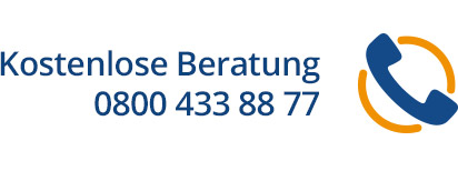 Kostenlose Beratung - 0800 433 88 77